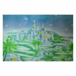 Sfondo Carta Paesaggio Arabo con  Palme