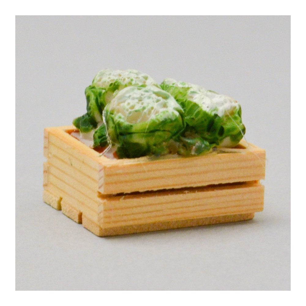Cassetta in Legno con Broccoli