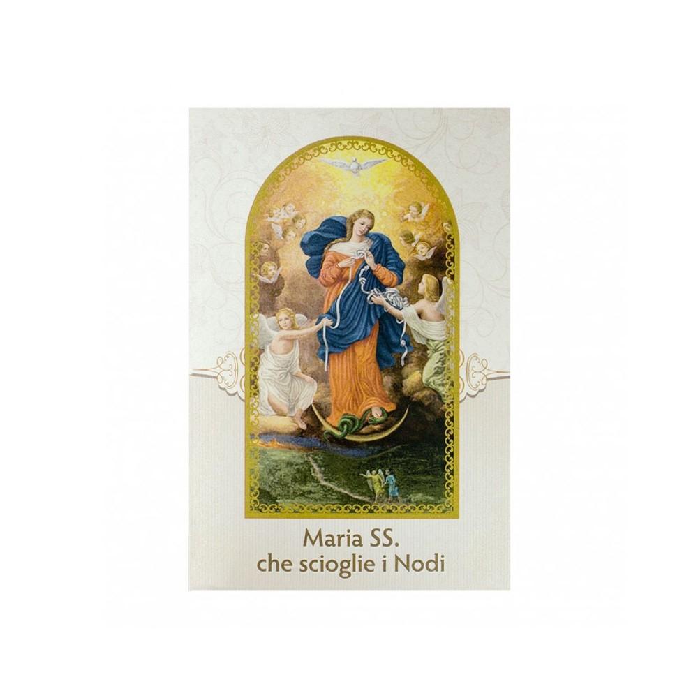 Cartoncino Pieghevole Maria che Scioglie i Nodi