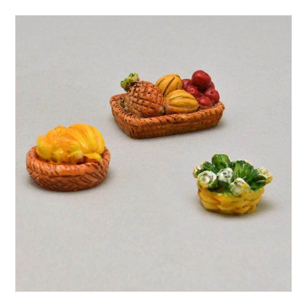 Cestini Assortiti con Frutta e Ortaggi