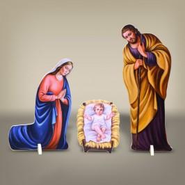 Sacra Famiglia Sagomata in Legno