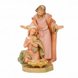 Sacra Famiglia per il Presepe 15cm