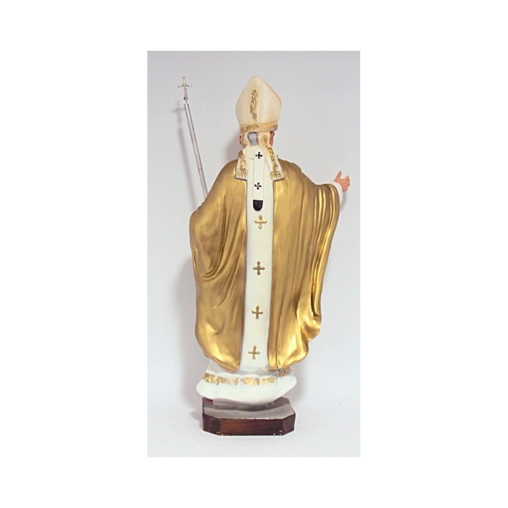 Giovanni Paolo II resina cm. 42 dorato