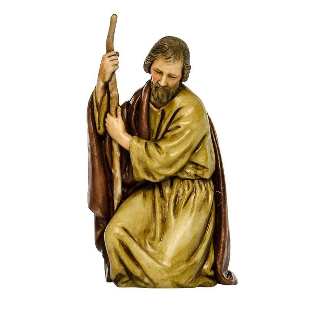 San Giuseppe in Ginocchio per la Natività del Presepe Landi 11 cm.