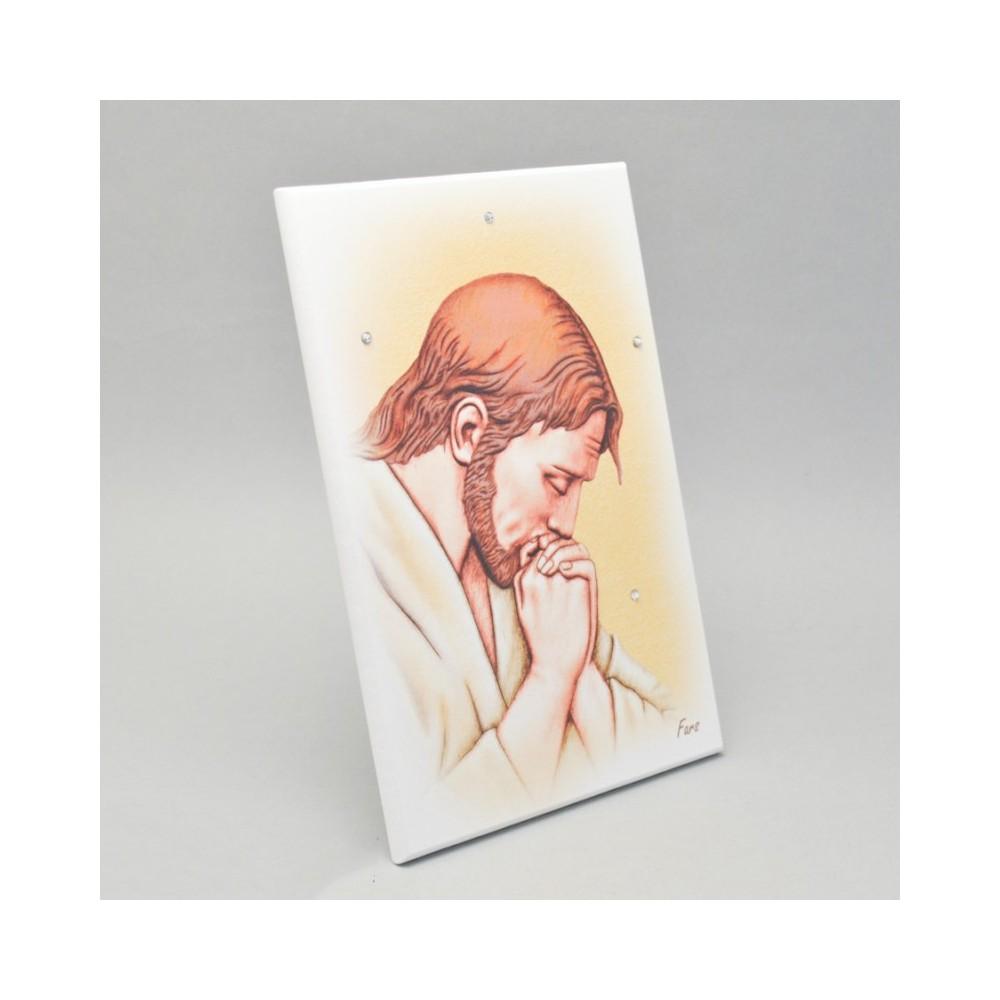 Quadretto Gesù con Strass