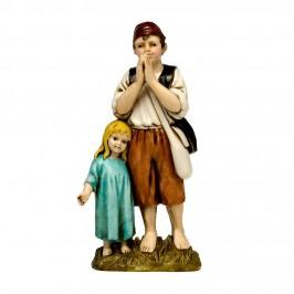 Coppia di Fanciulli Landi 12 cm