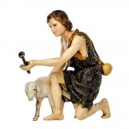 Pastore in Ginocchio con Pecora per il Presepe