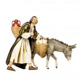 Viandante con Asino per il Presepe