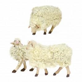 Kit 3 Pecore con lana cm 30