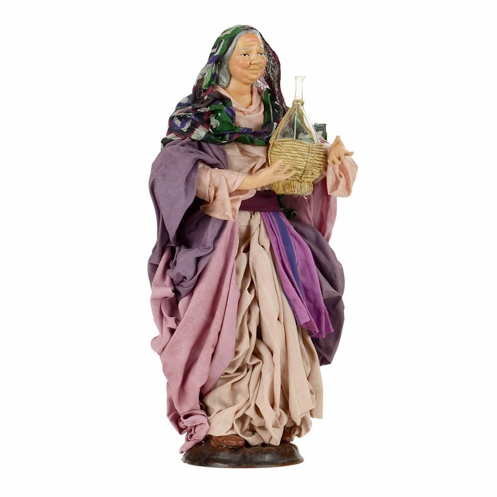 Donna Anziana in Terracotta cm 30