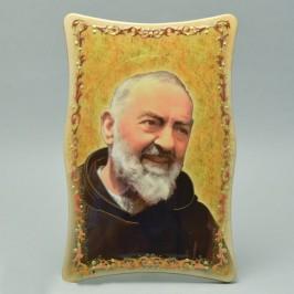 Quadretto Padre Pio Effetto Lucido