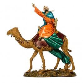 Re Magio Mulatto su Cammello per il Presepe