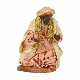 Re Magio Moro in Terracotta cm 12