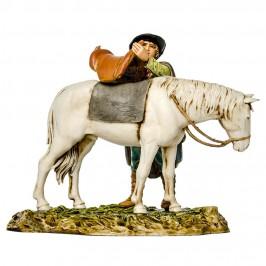 Pastore che Sella il Cavallo