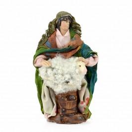 Pastore Tosa Pecora in Terracotta cm 10
