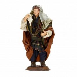 Arabo con Sacco in Terracotta cm 18