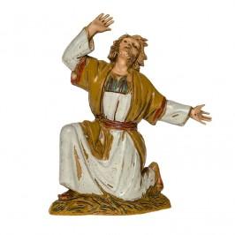 Pastore Meravigliato in Ginocchio per il Presepe