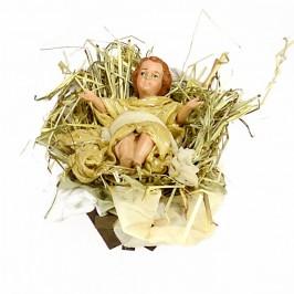 Gesù Bambino con Culla in Terracotta