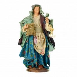 Donna Con Aglio in Terracotta