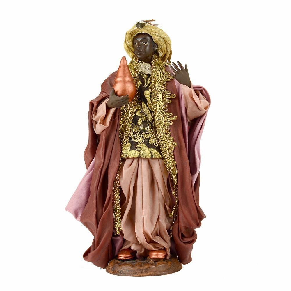 Re Magio Moro in Terracotta cm 22