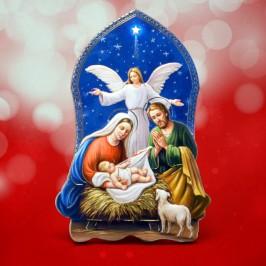 Quadretto Sacra Famiglia con Angelo