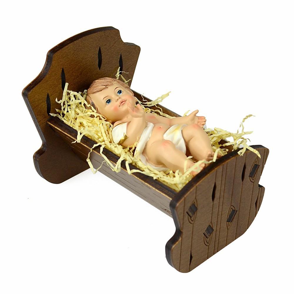 Gesù Bambino in Culla Legno d'Ulivo