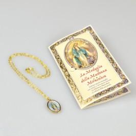 Pendente con Preghiera della Madonna Miracolosa