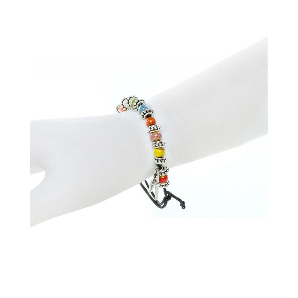 Bracciale Grani Vetro Multicolor