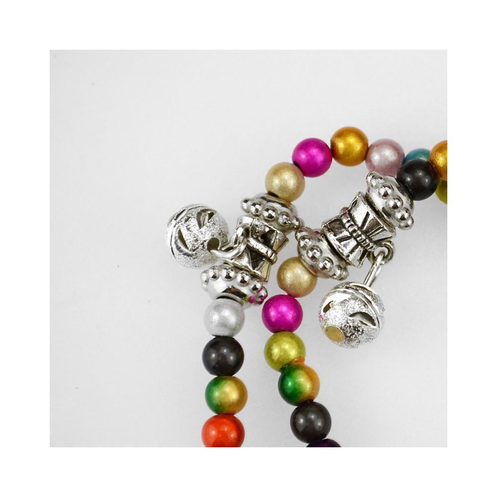 Bracciale Rosario Con Grani Multicolor