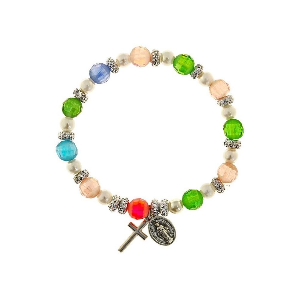 Bracciale Grani Cristallo Multicolor