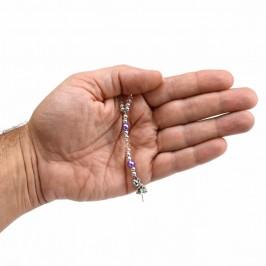 Bracciale Rosario Grani in Cristallo e Perla