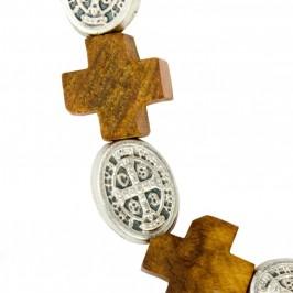 Bracciale con Croci e Medaglie San Benedetto