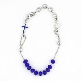 Bracciale Viera Grani Cristallo e Croce Smaltata