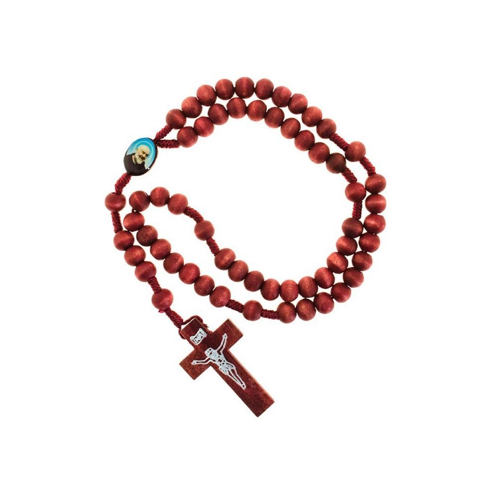 Rosario Padre Pio in Legno