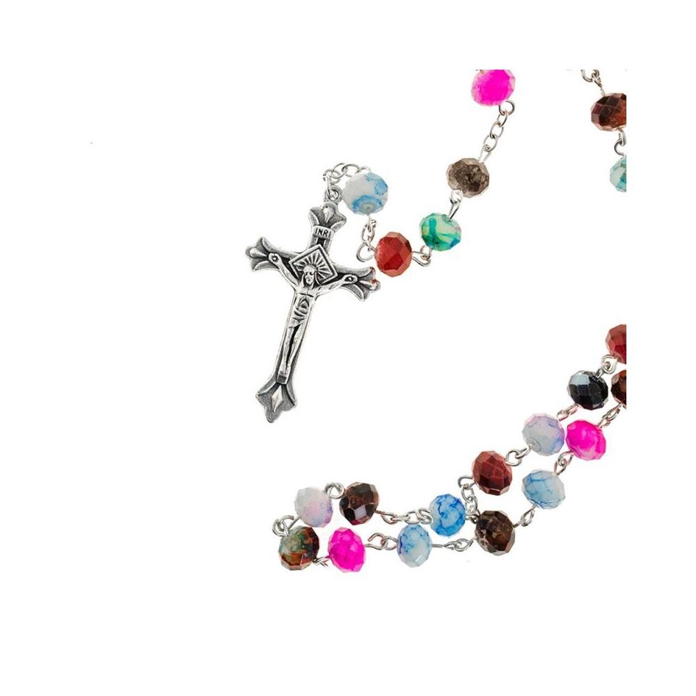Rosario con Grani Ovali Multicolor