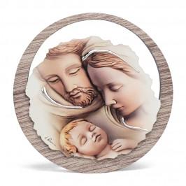 Quadretto Tondo Sacra Famiglia