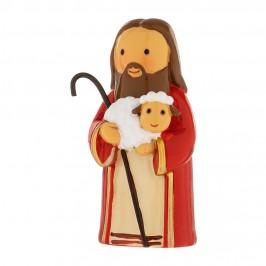 Statuetta Gesù Buon Pastore in Resina