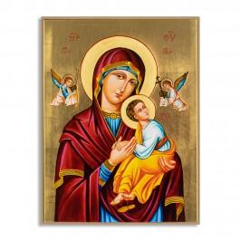 Quadro in Foglia Oro Madonna con Bambino