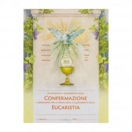 Pergamena Ricordo Comunione e Cresima