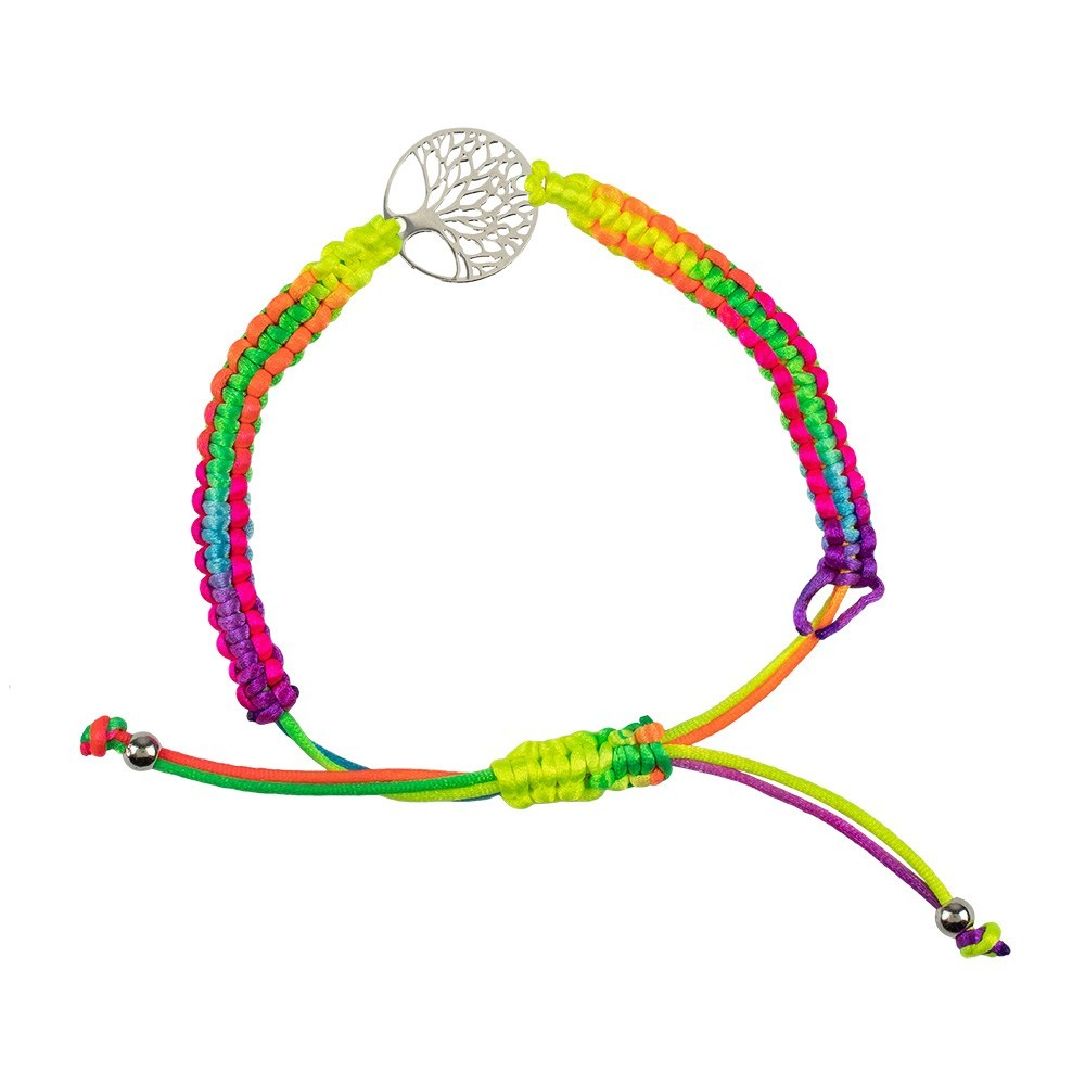 Bracciale Multicolor con Albero della Vita