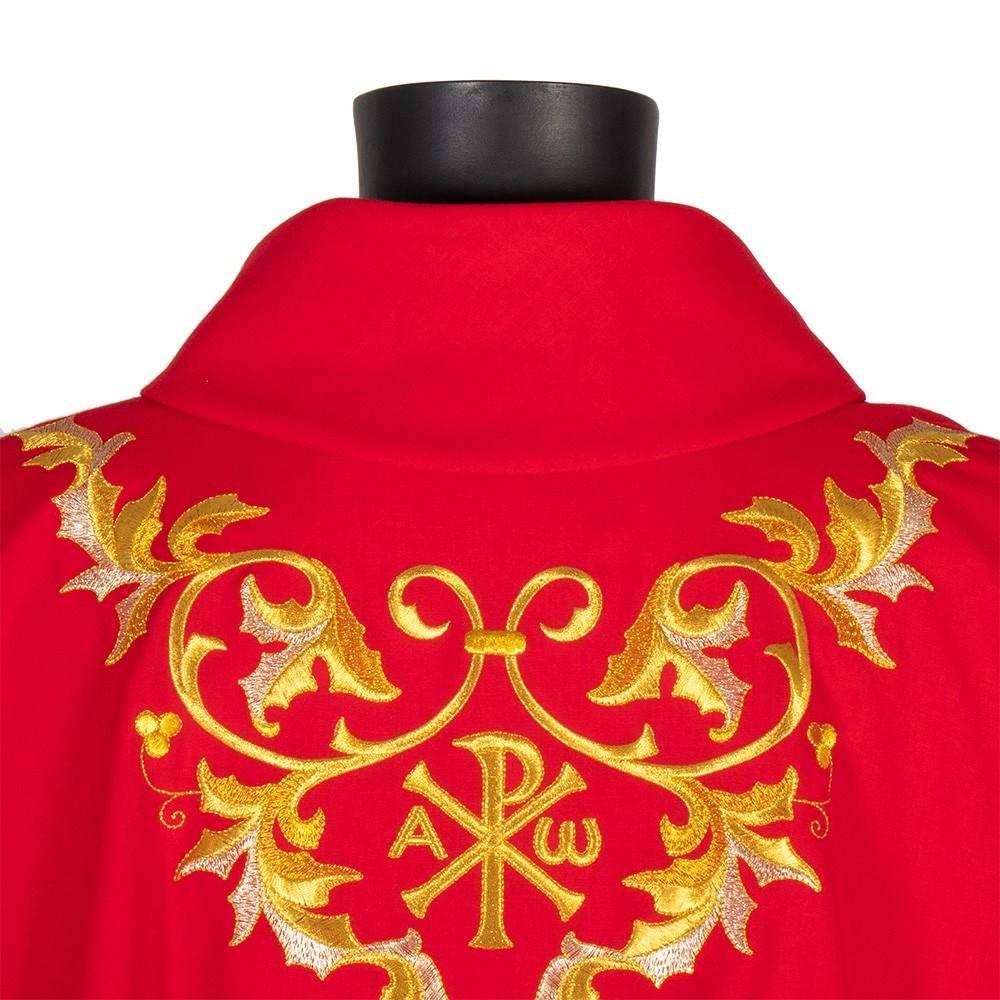 Casula Rossa Ricamata