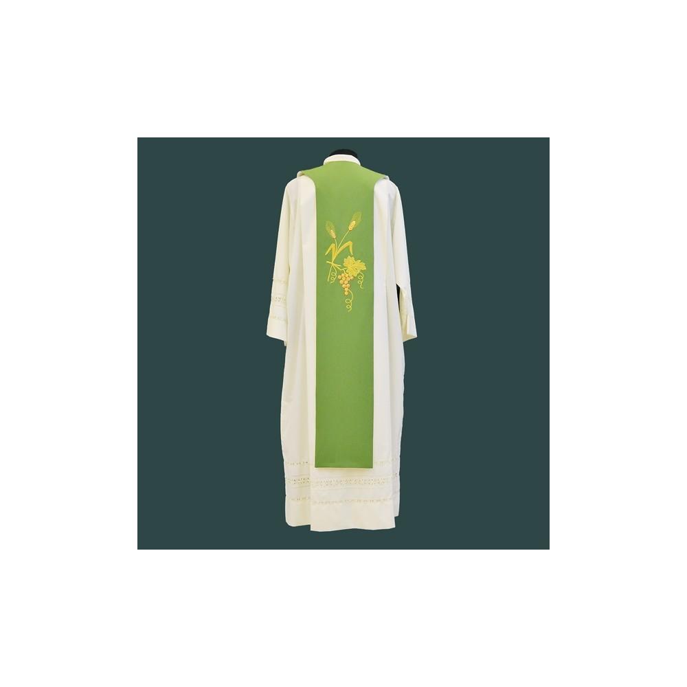 Tristola Double Face Verde Avorio