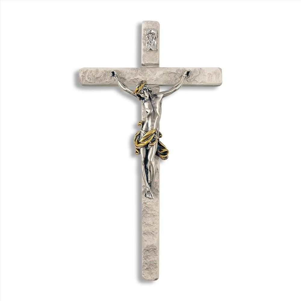 Crocifisso in Resina e Cristo Bagno Argento
