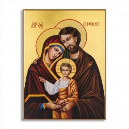 Quadro Foglia Oro Sacra Famiglia