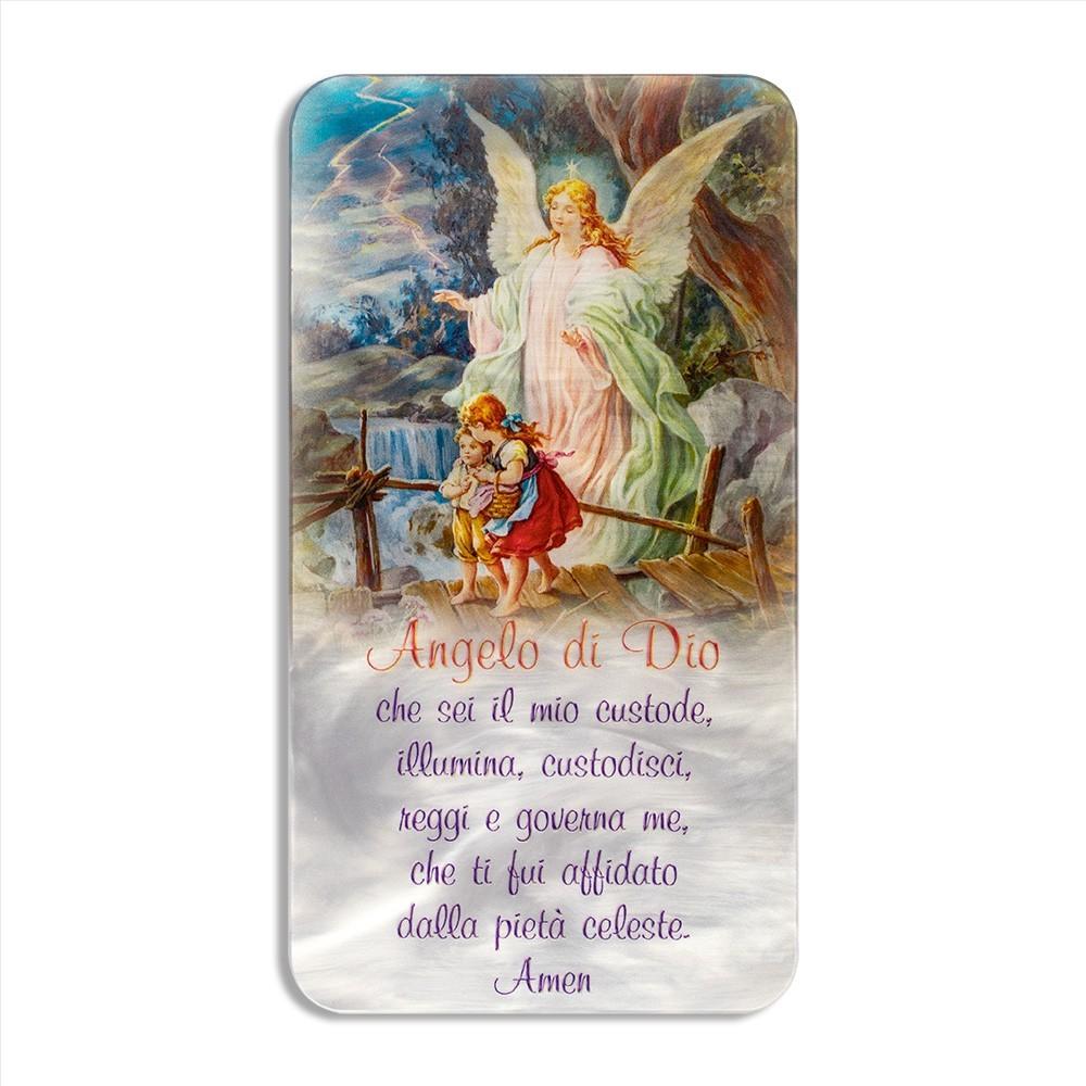 Quadretto Angelo di Dio in Madreperla