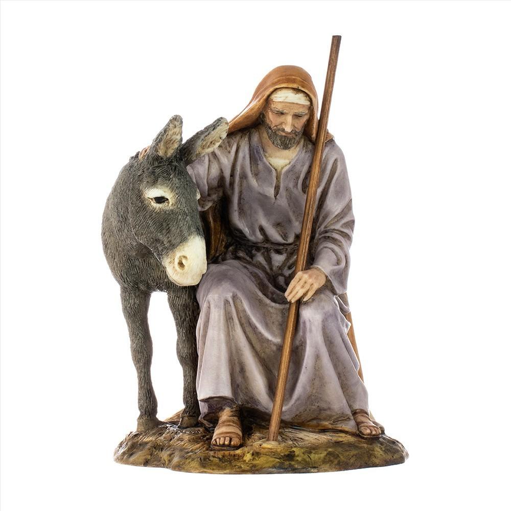 San Giuseppe con Asino Landi 15 cm