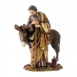 San Giuseppe con Asino Landi 20 cm