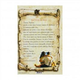 Cartoncino Preghiera La Vita in Due