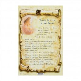 Cartoncino Preghiera Tutta la Vita è un Dono