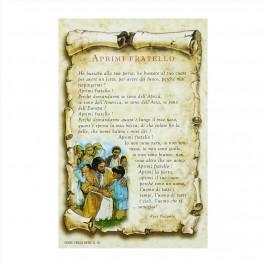 Cartoncino Preghiera Aprimi Fratello
